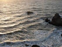Hav på solnedgången Royaltyfri Fotografi