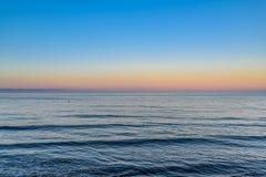 Hav på solnedgången, southcoast England Royaltyfri Foto