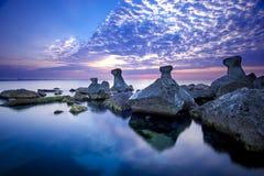 Hav på soluppgång Fotografering för Bildbyråer