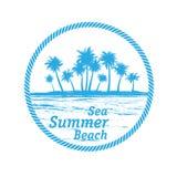 Hav Palm Beach stock illustrationer