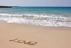 Hav, sand och förälskelse Fotografering för Bildbyråer