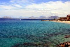 hav sicily för strandkustö Arkivbild