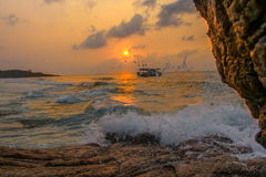 hav & solljus Royaltyfri Foto