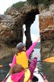 Hav som kayaking Arkivfoton
