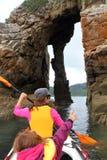 Hav som kayaking Arkivbild