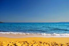 Hav strand, himmel Arkivbilder