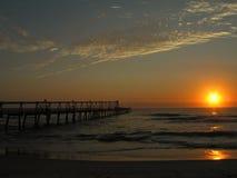 hav över soluppgång Arkivfoton