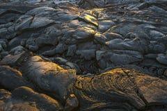 Havaí Lava Molten Volcano Beaches e oceano Fotografia de Stock Royalty Free