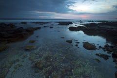 Havaí Lava Molten Volcano Beaches e oceano Fotos de Stock Royalty Free