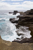 Havaí Rocky Shoreline Fotos de Stock Royalty Free