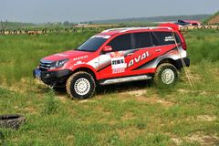 A HAVAL H5 off-road vehicle in the sand Stock Photography