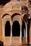 havali房子印度jaisalmer拉贾斯坦 免版税图库摄影