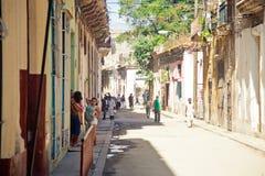HAVANA 30 DE DEZEMBRO: Rua na parte velha cidade do 3 de dezembro Fotografia de Stock Royalty Free