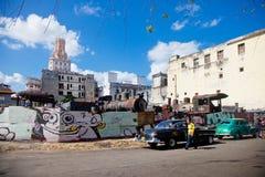 HAVANA 30 DE DEZEMBRO: Rua na parte velha cidade do 3 de dezembro Fotografia de Stock