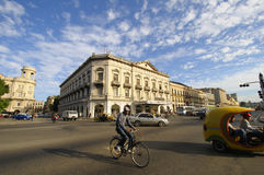 HAVANA - 30 DEC, 2009. Traffic in Havana street. Stock Photography