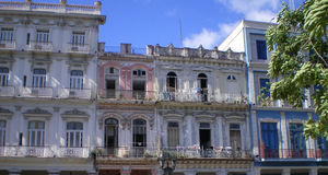 Havana. Buildings  of Vedado area in Havana, Cuba Stock Images