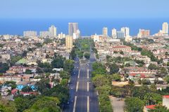Havana aerial view Royalty Free Stock Images