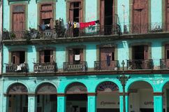 Havana apartments, cuba royalty free stock image