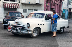 Old Buick used as a taxi in Havana Stock Photo