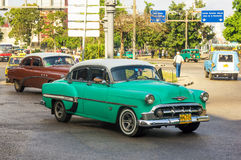 Old Chevrolet used as a taxi in Havana Royalty Free Stock Photos
