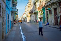 Havana backstreet stock afbeelding