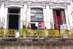 Havana Balcony Royalty Free Stock Image