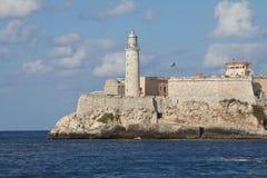 Havana. Beskådar av forten El Morro Arkivbild