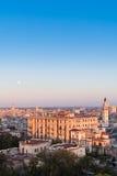 Havana bij zonsondergang Stock Foto's