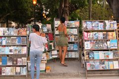 Havana book fair or market Royalty Free Stock Photos