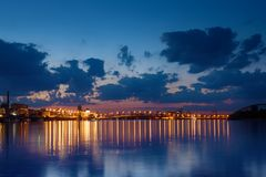 Havana bridge in Kiev Royalty Free Stock Images