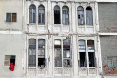 Havana broken windows. Broken windows of an old building in a street of Havana, Cuba Stock Photography