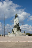 Havana - Bronze monument to Antonio Maceo, view from Malecon Stock Images