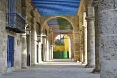 Havana building corridor Royalty Free Stock Images