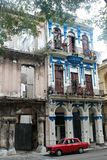 Havana buildings. Architecture of urban building of colonial Havana headquarters site from time tourism stock image