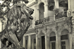 Havana buildings and Lion Stock Photography