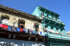 Havana the capital of Cuba - famous and known urban street - public square Stock Photos