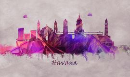 Havana Capital of Cuba, Skyline royalty free illustration