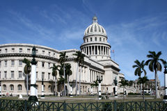 Havana capitolio. The old capital building in havana royalty free stock photos