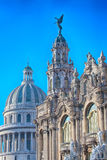 Havana Capitolio e Lorca Theater Fotografia de Stock Royalty Free