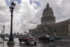 Havana Capitolio Kuba Royaltyfria Foton