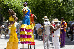 Havana Carnival, artistas da rua fotos de stock royalty free