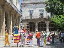 Havana Carnival, artistas da rua imagens de stock