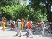 Havana Carnival, straatkunstenaars royalty-vrije stock afbeelding