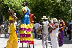 Havana Carnival, street Artists Royalty Free Stock Photos