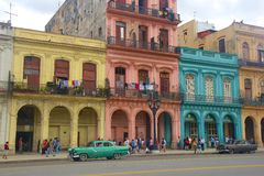 Havana and cars, Cuba Stock Images