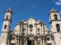 Havana Cathedral Royalty Free Stock Photography