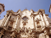 Havana Cathedral. A view of the Old Havana Cathedral stock photos
