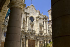 The Havana Cathedral in Cuba royalty free stock images