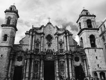 Havana cathedral royalty free stock photo