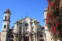 Havana Cathedral Royalty Free Stock Images